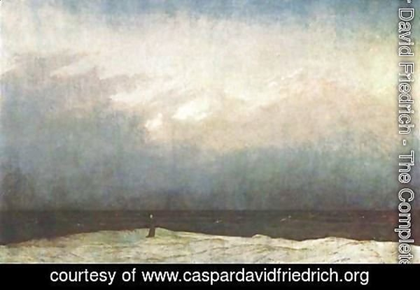 Caspar David Friedrich - Monk on the Seashore