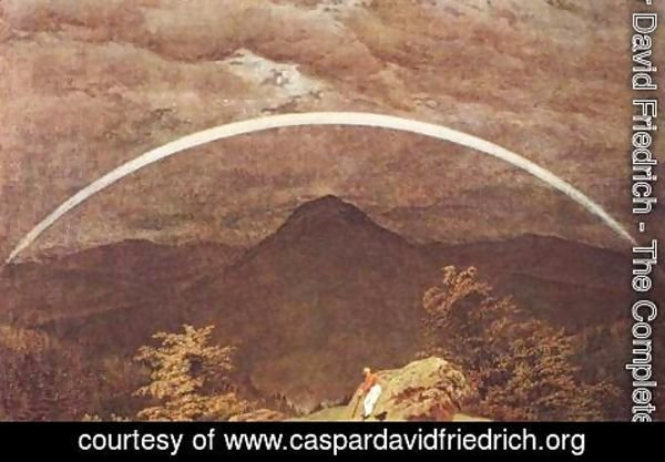 Caspar David Friedrich - Mountain Landscape with Rainbow