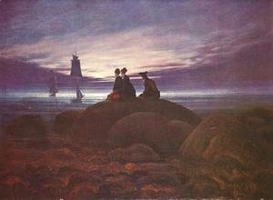 Caspar David Friedrich - The Moon Rising over the Sea