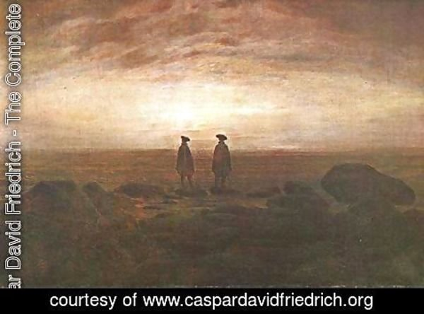 Caspar David Friedrich - Two Men by the Sea at Moonrise