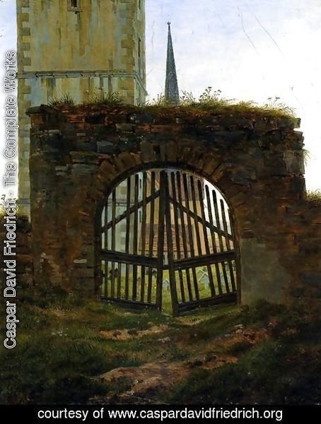Caspar David Friedrich - The Cemetery Gate (The Churchyard)