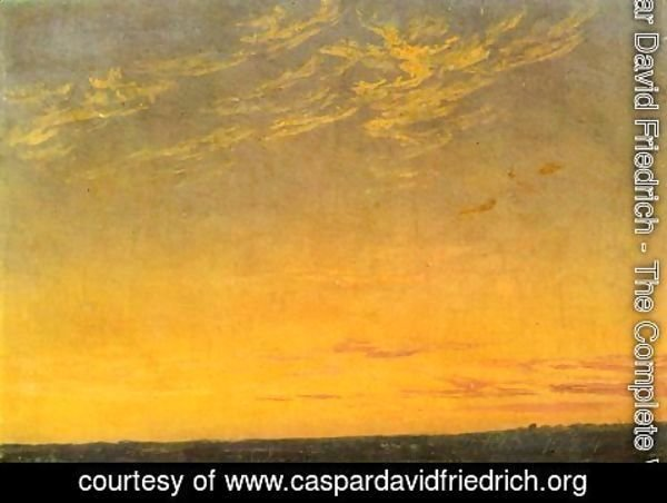 Caspar David Friedrich - Evening with clouds