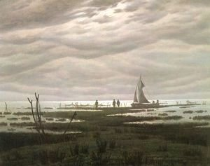 Caspar David Friedrich - Flat country shank at Greifswalder Bodden
