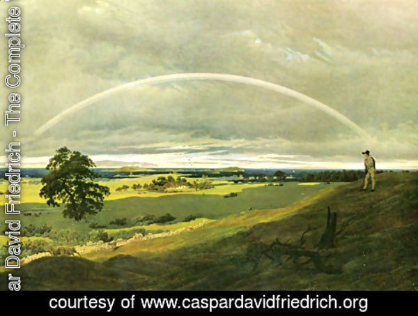 Caspar David Friedrich - Landscape with rainbow