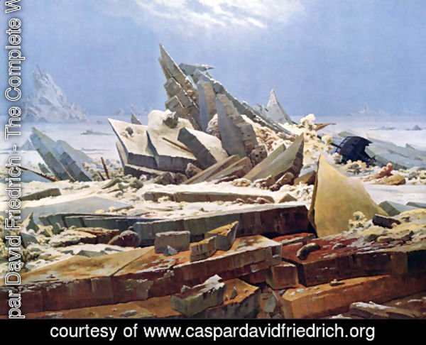 Caspar David Friedrich - Polar sea (The destroyed hope)