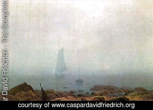 Caspar David Friedrich - Sea beach in the fog