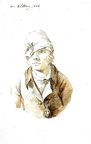 Caspar David Friedrich - Self-Portrait with Cap and Sighting Eye-Shield
