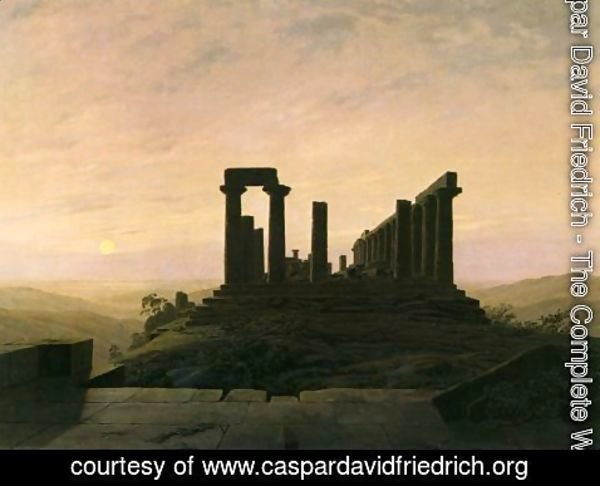 Caspar David Friedrich - Temple in Agrient