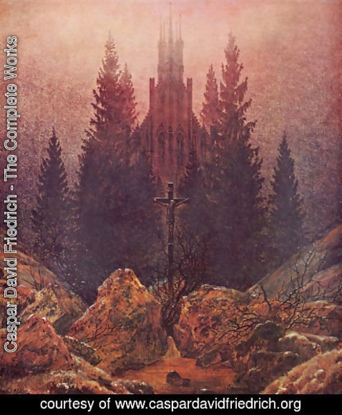 Caspar David Friedrich - The Cross in the Mountains (2)