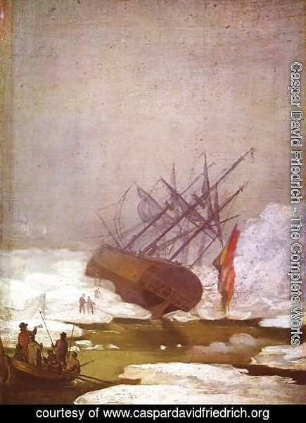 Caspar David Friedrich - Wreck in the polar sea
