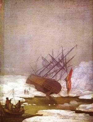Wreck in the polar sea