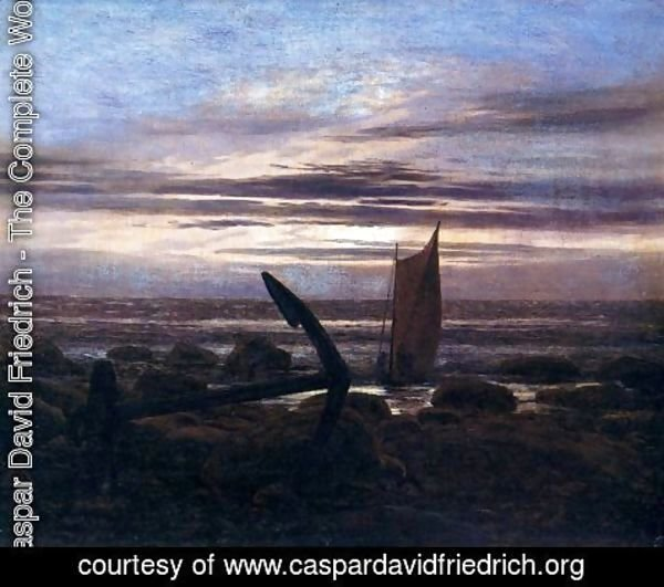 Caspar David Friedrich - Evening on the Baltic Sea