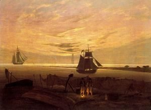Caspar David Friedrich - Evening on the Baltic Sea 2