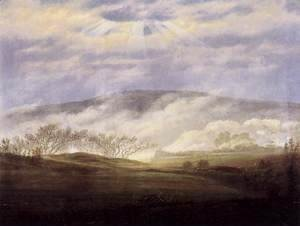 Caspar David Friedrich - Fog in the Elbe Valley