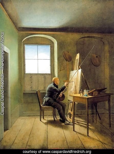 Georg Friedrich Kersting. Friedrich's Studio