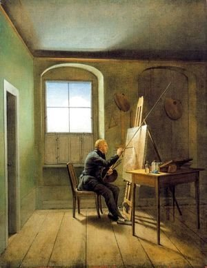 Caspar David Friedrich - Georg Friedrich Kersting. Friedrich's Studio