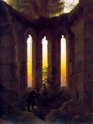 Caspar David Friedrich - Hutten's Tomb