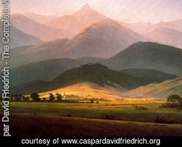 Caspar David Friedrich - Landscape in the Riessengebirge