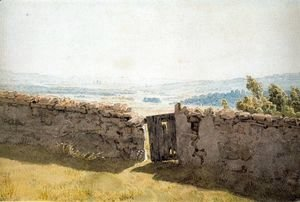 Caspar David Friedrich - Landscape with Crumbling Wall