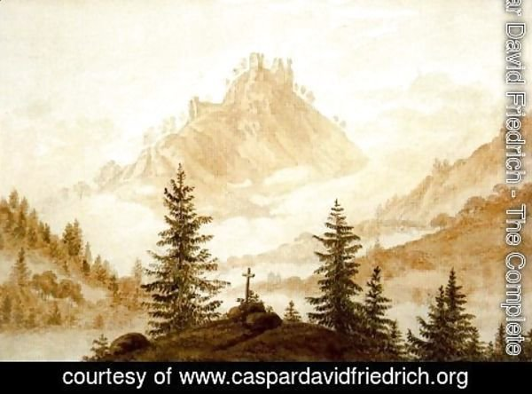 Caspar David Friedrich - Mountain Landscape