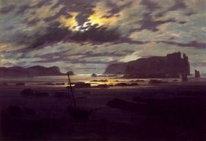 Caspar David Friedrich - Northern Sea in the Moonlight
