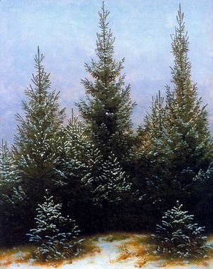 Caspar David Friedrich - Pine Thicket