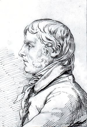 Caspar David Friedrich - Self-portrait in profile