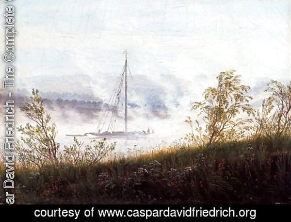 Caspar David Friedrich - Ship on the River Elbe in the Early Morning Mist