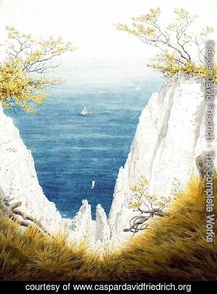 Caspar David Friedrich - The Chalk Cliffs on Rügen