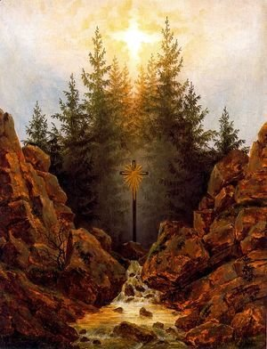 Caspar David Friedrich - The Cross in the Forest