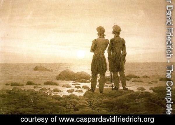 Caspar David Friedrich - Two men at Moonrise
