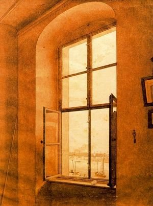 Caspar David Friedrich - View from the Artist's Studio (left-hand window)