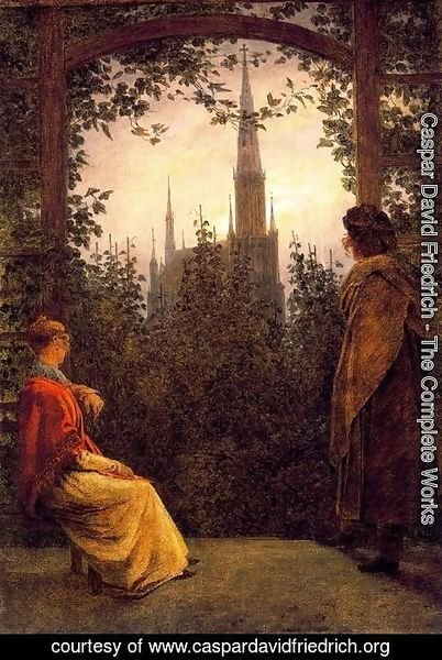 Caspar David Friedrich - Watching the church