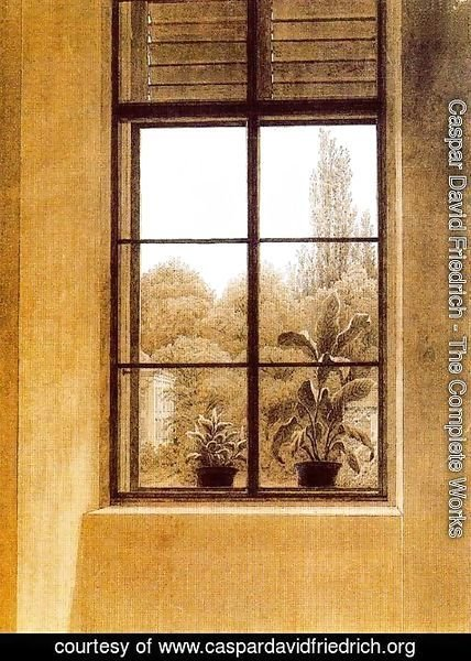 Caspar David Friedrich - Window and Garden
