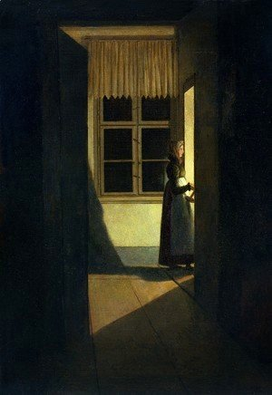 Caspar David Friedrich - Woman with Candlestick