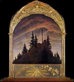 Caspar David Friedrich - Cross in the Mountains (Tetschen Altar) 2