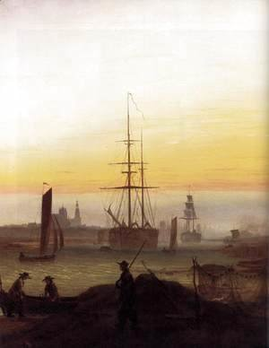 Caspar David Friedrich - Greifwald Harbour
