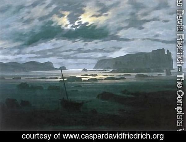 Caspar David Friedrich - The North Sea in Moonlight