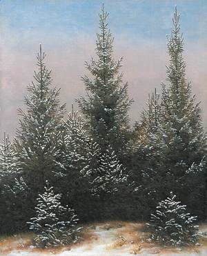 Caspar David Friedrich - Fir Trees in the Snow