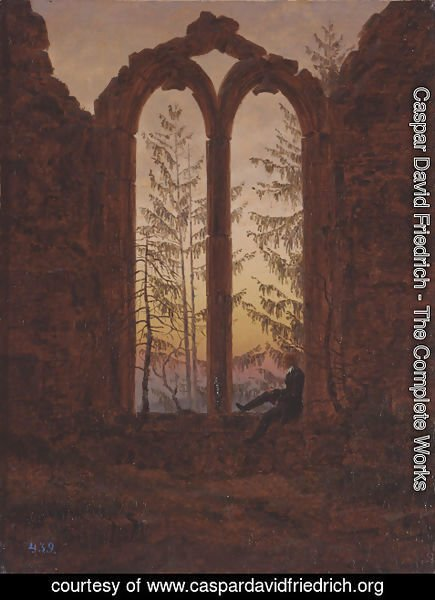 Caspar David Friedrich - The Dreamer (Ruins of the Oybin Monastery)