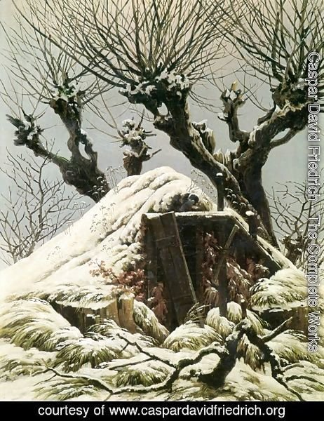 Caspar David Friedrich - Snowy Hut (hut in the snow)