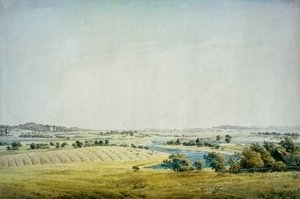Caspar David Friedrich - Rogen landscape in Putbus