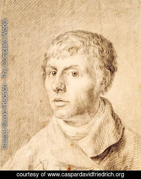 Caspar David Friedrich - Self-portrait as a young man