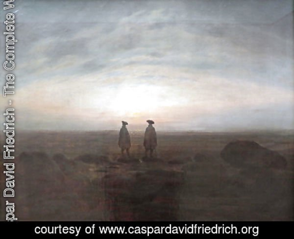 Caspar David Friedrich - Two Men by the Sea