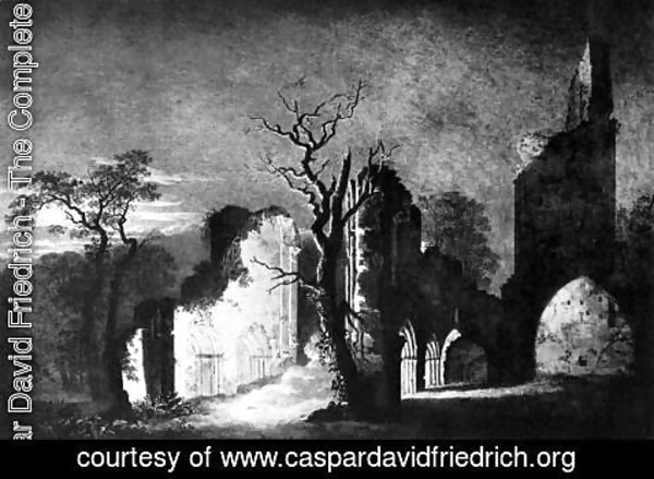 Caspar David Friedrich - West facade of the ruins of Eldena