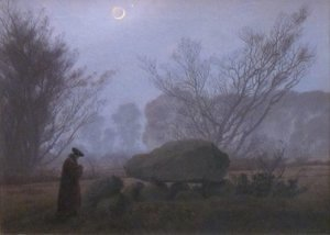 Caspar David Friedrich - A Walk at Dusk 2