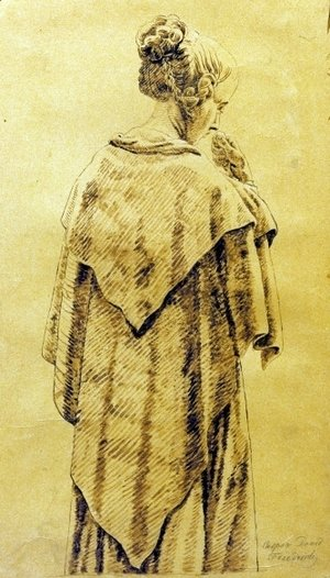 Caspar David Friedrich - Woman in the cloack
