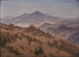 Caspar David Friedrich - Landscape with the Rosenberg in Bohemian Switzerland
