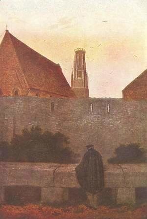 Caspar David Friedrich - By the townwall