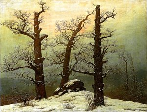 Caspar David Friedrich - Passage grave in the snow